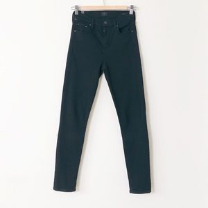 Citizens of Humanity Rocket Crop Skinny Blk Jeans